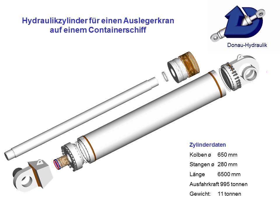Hydraulikzylinder Auslegekran